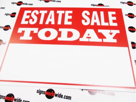 Estate Sale Today info sign image