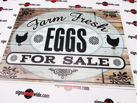 Farm Fresh Eggs Wood Grain sign image 1