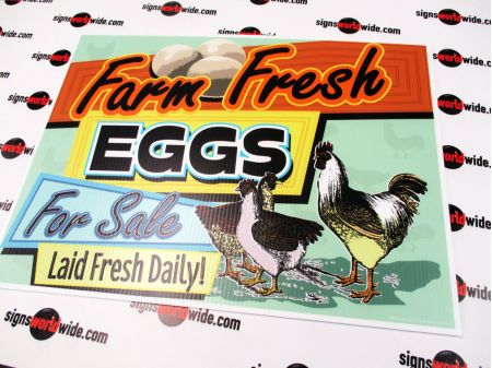 Farm Fresh Eggs Retro sign image 1