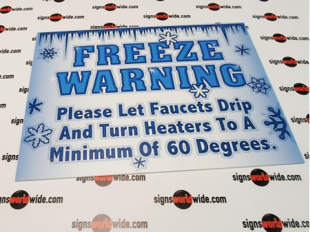 Freeze Warning 2 sign image