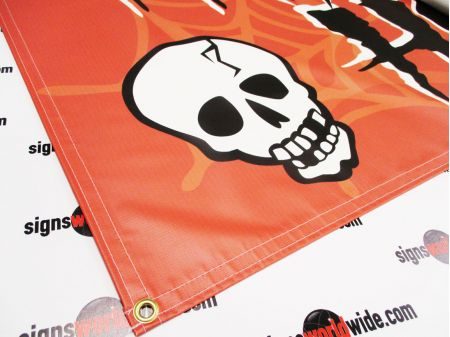 Haunted House Banner sewn edge and grommet image