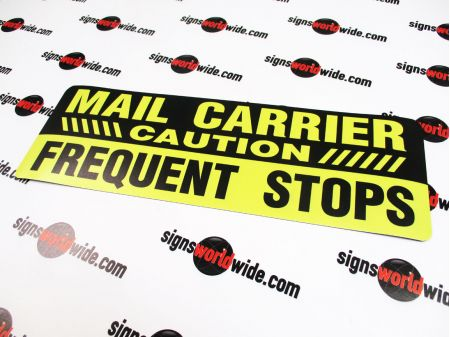 Mail Carrier FS non reflective sign image