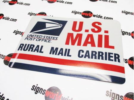 US Rural Mail 8x12 Reflective sign image