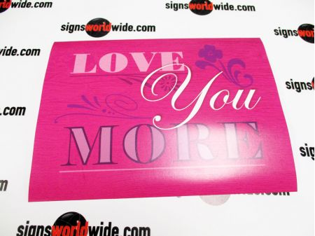 Paper Poster Love You More image 1
