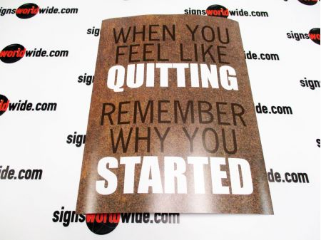 Paper Poster When You Feel Like Quitting image 1