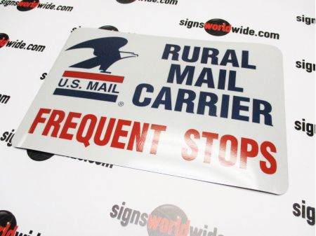 Rural Mail Carrier Reflective Magnetic sign image