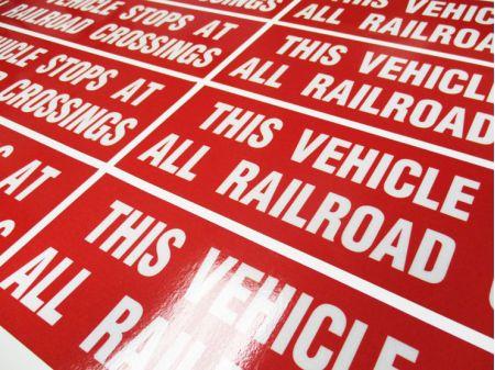 This Vehicle Stops at Railroad untaped image