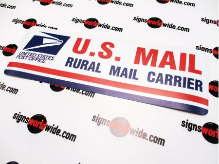 US Mail non reflective sign image 1