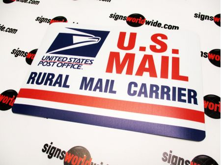 US Rural Mail 8x12 Non-Reflective sign image