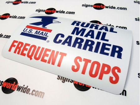 Rural Mail Carrier Non-Reflective Magnetic sign image