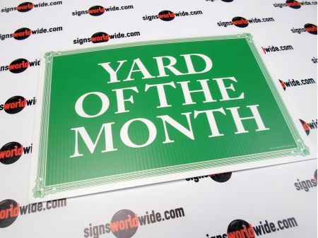 Yard of the month lg sign image