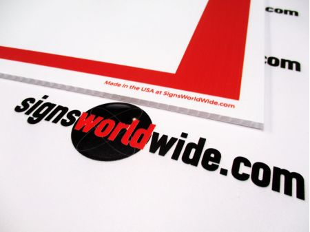 Yard Sale R&W sign flute image