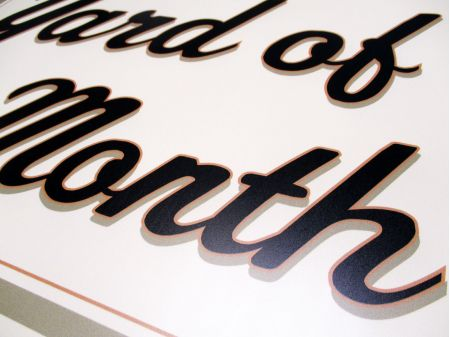 Yard of the Month Beige Aluminum Sign 3