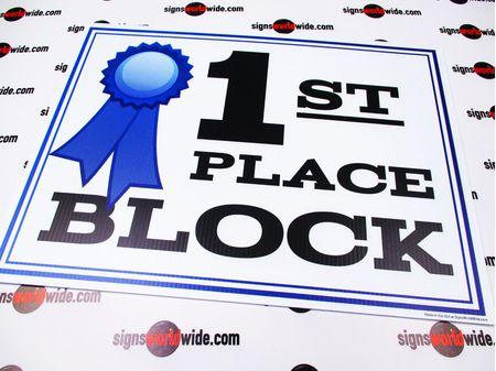 1st Place Block Sign Image 1