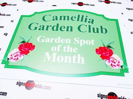 Camellia Garden Club Yard Sign Image 1