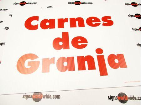 Carnes de Granja Yard Sign Image 1