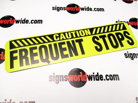 Caution Frequent Stops 3x12 Sign Image 1