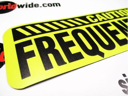 Caution Frequent Stops 3x12 Sign Image 2
