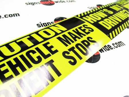 Caution Frequent Stops Hows My Driving Decal Image 2