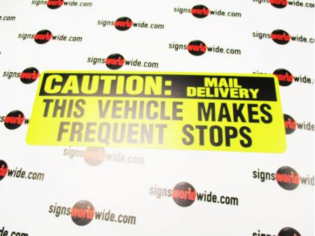 Caution Mail Delivery sign image 1