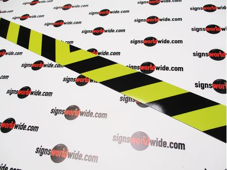Caution Stripe Magnetic Reflective Sign Image 1