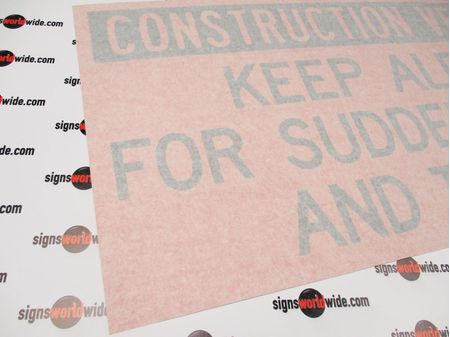 Construction Vehicle Decal with Transfer Tape