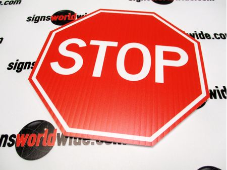 Coroplast Stop Sign