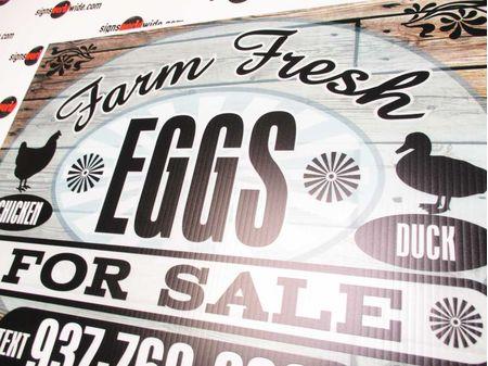 Farm Fresh C&D Eggs Sign Image 2