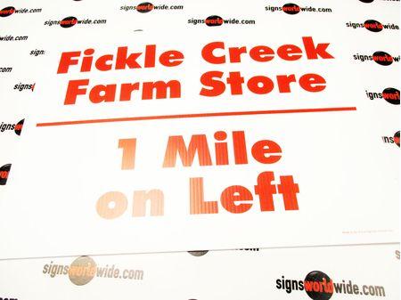 Fickle Creek Farm 1 mile sign image 1