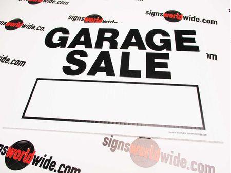 Garage Sale Yard Sign image 1