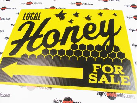 Local Honey For Sale Directional Sign Image 1