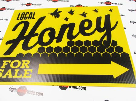 Local Honey For Sale Directional Sign Image 2