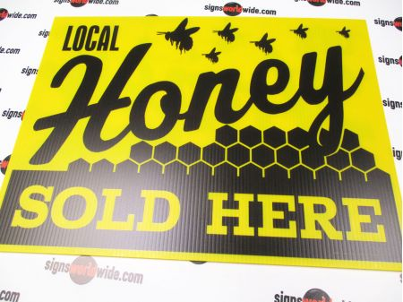 Local Honey Sold Here Sign Image 1