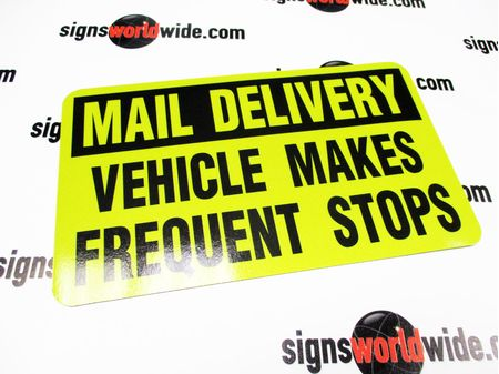 Mail Delivery FS Y&B Reflective Sign Image 1