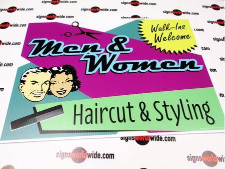 Men & Women Haircut & Styling Yard Sign Image