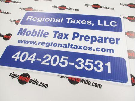 Mobile Tax Mobile Preparer Sign Image 1