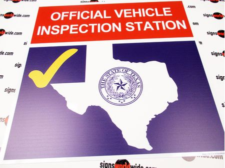 Texas Inspection Sign Image 1