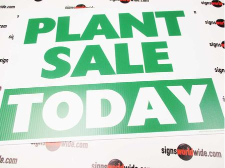 Plant Sale Today Sign Image 1