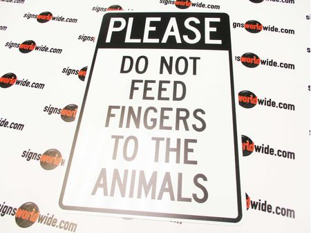 Please Do Not Feed Fingers Sign Image 1