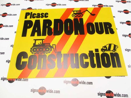 Pardon our Construction 2 sign image 2