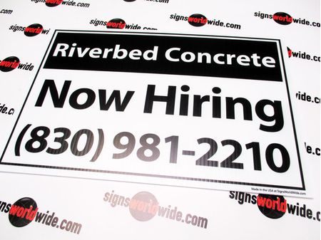 Riverbed Concrete 12x18 Yard Sign Image 1