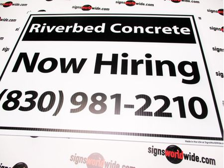 Riverbed Concrete 18x24 Yard Sign Image 1