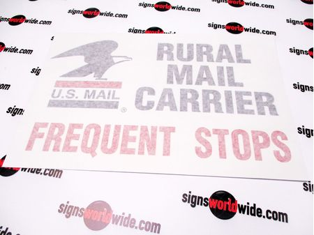 US Mail Rural Mail Carrier sign with transfer tape image 3