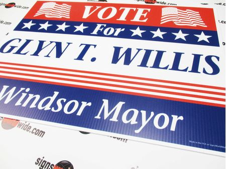 SAMPLE Vote Glyn Willis Sign Image 1