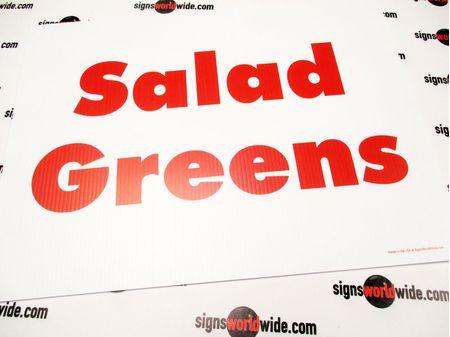 Salad Greens Yard Sign Image 1