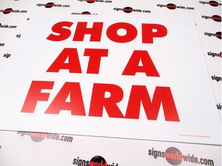 Shop At A Farm Sign Image 1