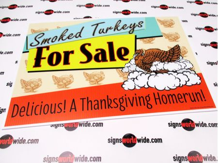 Smoked Turkeys For Sale Yard Sign Image
