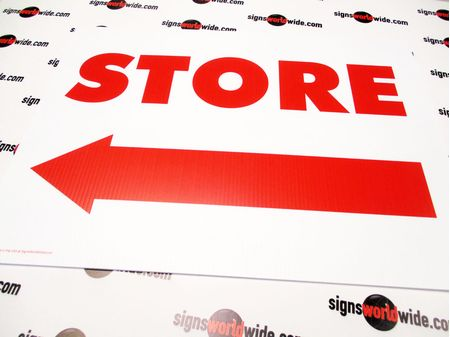 Store Directional Yard Sign Image 1