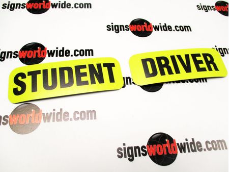 Student Driver 2x6 Sign Image 1