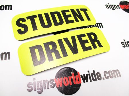Student Driver 2x6 Sign Image 2